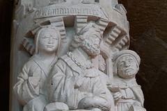 poor Lazarus (S amo) Tags: old abbey ancient catholic antique luke pillar medieval column luc christianity cloister gospel antic ancien colonne pilier lazarus abbaye perigord lazare aquitaine clotre catholique vangile christianisme cadouin
