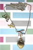 Tattoo Necklace - Butterfly Padlock Retro