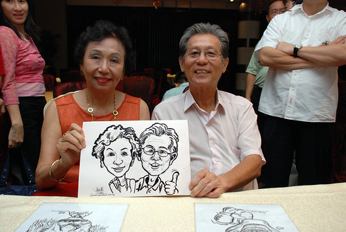 caricature live sketching for OCBC Securities - 10