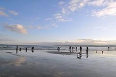 Sandbanks (dawn.v) Tags: uk sea england seascape beach clouds reflections seaside shoreline bluesky dorset lowtide february sandbanks poole englishseaside