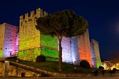 Castello dell'Imperatore, Prato (Federico Paoli) Tags: light red white verde green night italia m dell di rosso castello prato bianco notturna tricolori meno tricolore imperatore unit barbarossa federicoii dedicatedphoto illumino