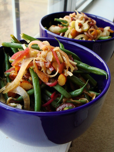 Green Bean Salad with Fried Almonds
