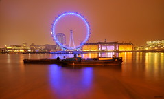 EDF Energy London Eye (raghavvidya) Tags: uk england london eye night project energy sigma explore 365 1020mm edf 2011 project365 quartasunset raghavvidya