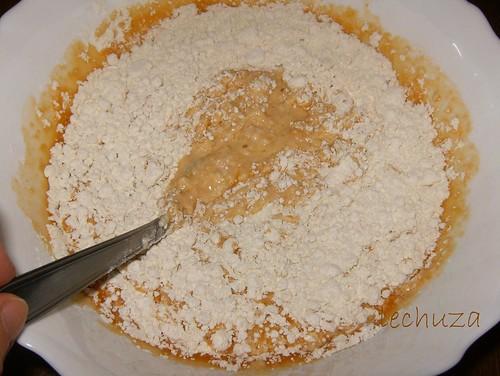 Empanada carne y queso-mezclar harina
