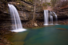 One of the reasons I love Arkansas aka Twin Falls of Richland (clay.wells) Tags: winter bw 6 nature creek canon lens landscape photography eos waterfall stream long exposure zoom outdoor clayton wells hike stop filter twinfalls nd area usm wilderness february polarizer six ef 1740mm circular ozark density waterscape richland neutral 2011 riverscape f4l 40d img0508 longdevilsfork bigdevilsfork thechallengefactory