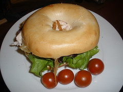 Bagel with chicken