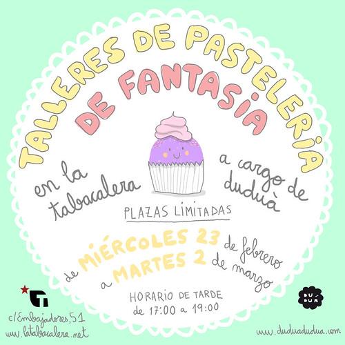 Talleres de pastelería de fantasía en La  Tabacalera (Madrid)