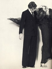 Yves Saint Laurent and Catherine Deneuve (Famous Fashionistas (First)) Tags: vogue ysl 1976 catherinedeneuve yvessaintlaurent vintagefashion vintagemagazine 1970s vogueparis 1970sfashion