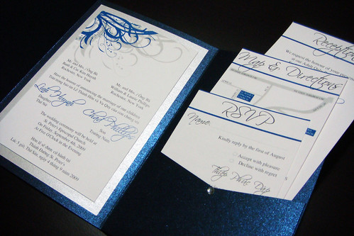 Blue Navy and Silver Wedding Invitations Flickr Photo Sharing