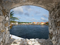 a glimpse of paradise (Johanna Hoffmann) Tags: window view fort curacao framing willemstad netherlandsantilles annabaai