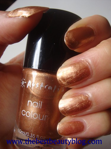 Australis, nail polish, copper nail polish