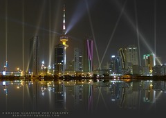 Laser show - Kuwait City 2011 (khalid almasoud) Tags: show leica city night fantastic flickr all photographer 5 anniversary  rights estrellas laser kuwait february independence 50th liberation khalid reserved dlux  2011   almasoud  flickraward   dlux5 thebestofday gnneniyisi