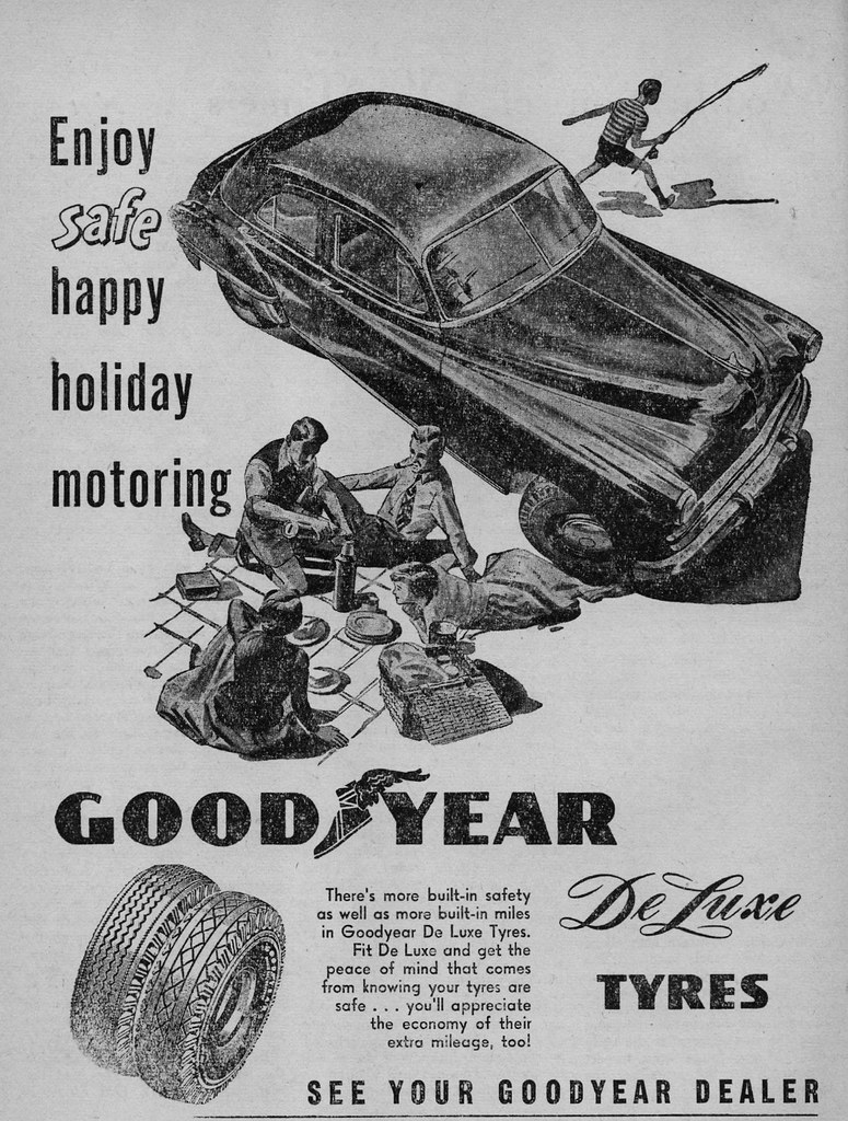 1951 Goodyear DeLuxe tyre ad