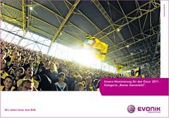 """Unsere Nominierung für den Oscar 2011. Kategorie: """"Bestes Szenenbild"""" (Evonik-Werbung für Borussia Dortmund, BVB)"""