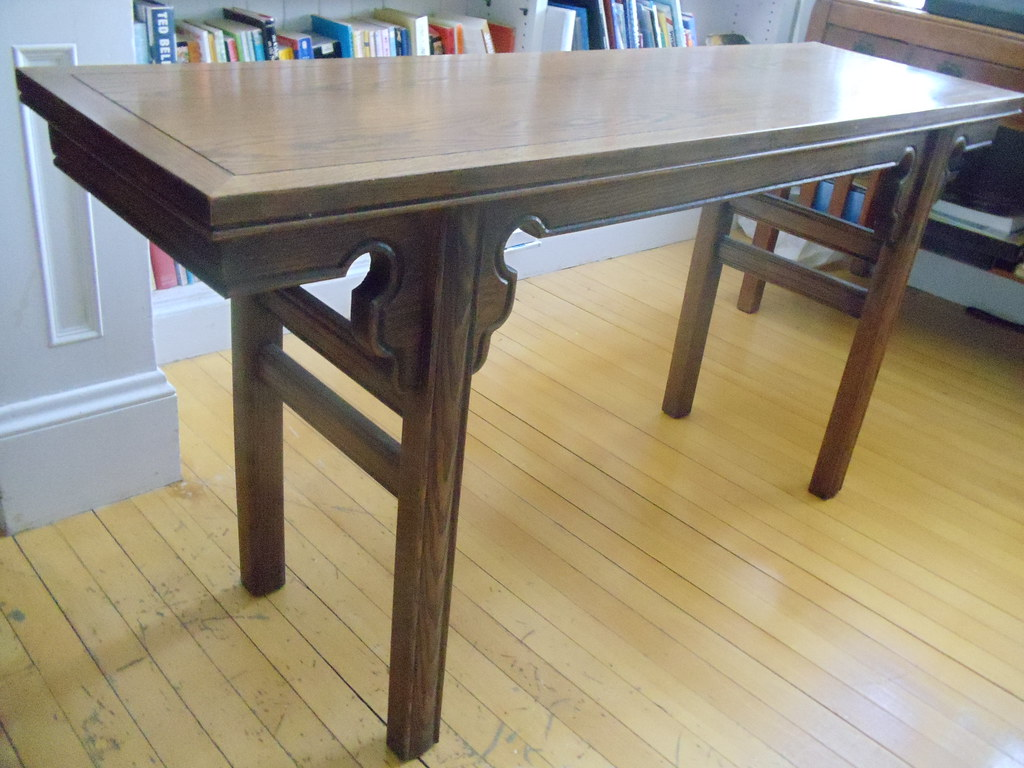Item 8 (on hold) Solid oak sofa table