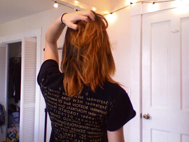 oops, orange hair