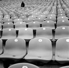 Of choice and decision (Georg Sedlmeir) Tags: film analog munich mnchen seats choice tmax400 olympicstadium decision commitment olympiastadion rolleicord sitze