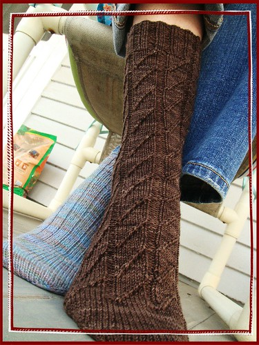 brown girly socks