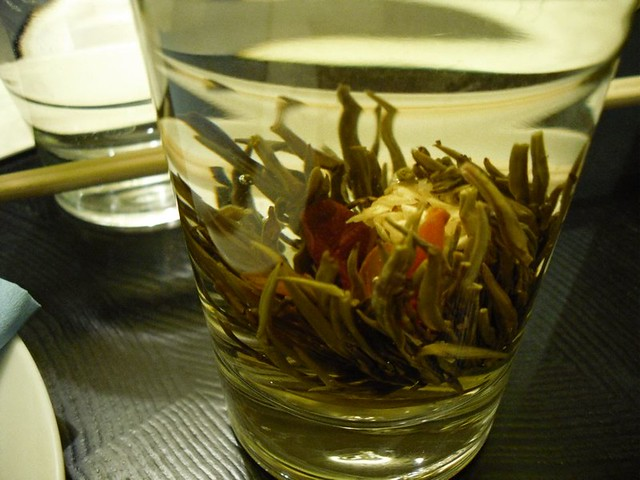 Jasmine tea at Ping Pong