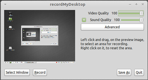 record my desktop window application