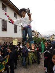 Cusco parade and plaza