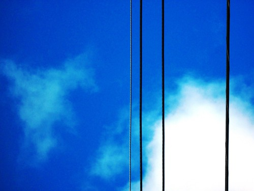 Sky cloud and wires