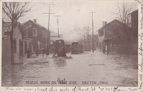 Rescue Work on [East] Side, Dayton, OH - 1913 Flood
