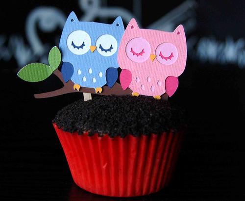 Love Birds (Owl) Cupcakes