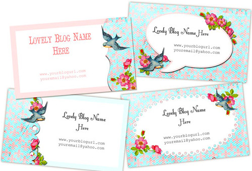 Free Vintage Buisness Cards