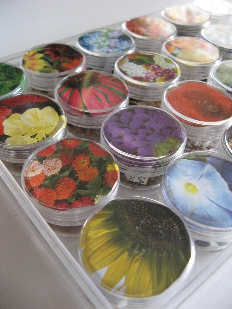 fun flower seed storage