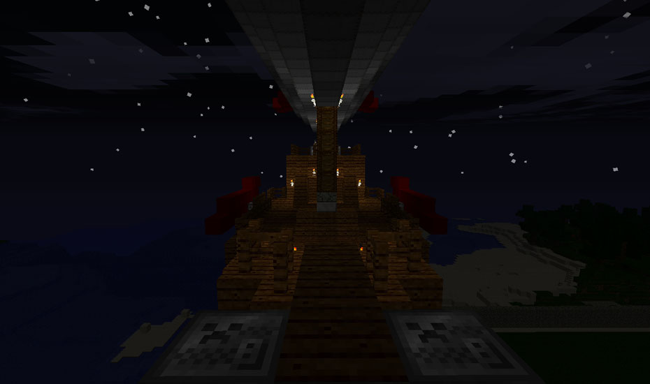 Minecraft - The deck of my Airship