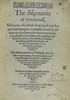 Title page of Discoverie of witchcraft