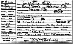 1915 Iowa Census Record - Josephine Duffy