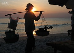 Cambodia / Coucher de Soleil sur la Mer à Kampong Som