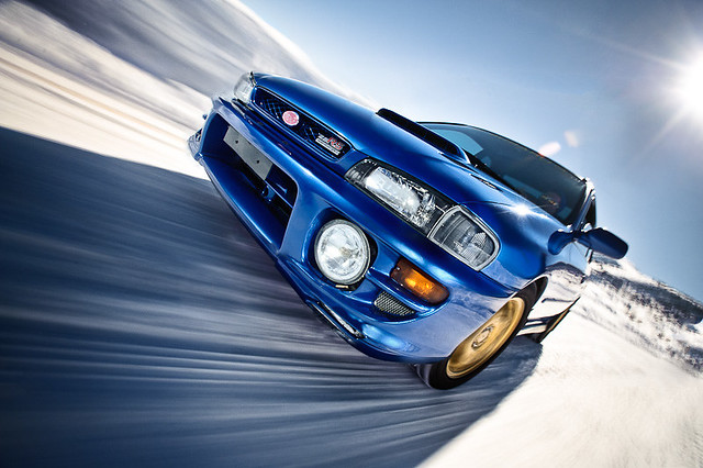 blue snow blur car photography offroad snowy nevada rally posed fast racing course commercial rig subaru 1998 reno streaks product impreza rs mtrose thomascreek dannewton rigshot danielnewton diypfav