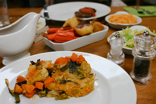 Really amazing miso, lentil and cabbage casserole