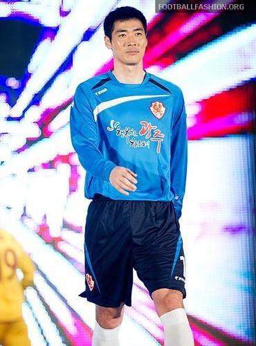 Gwangju FC Joma 2011 Home and Away Soccer Jerseys / Football Kits