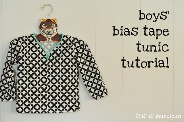 boy's bias tape tunic tutorial.
