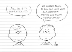Amore volubile (Peanuts Reloaded) Tags: charliebrown lnusvanpelt peanuts comics drawing amore love reloaded snoopyfriends snoopyandfriends disegno bambini