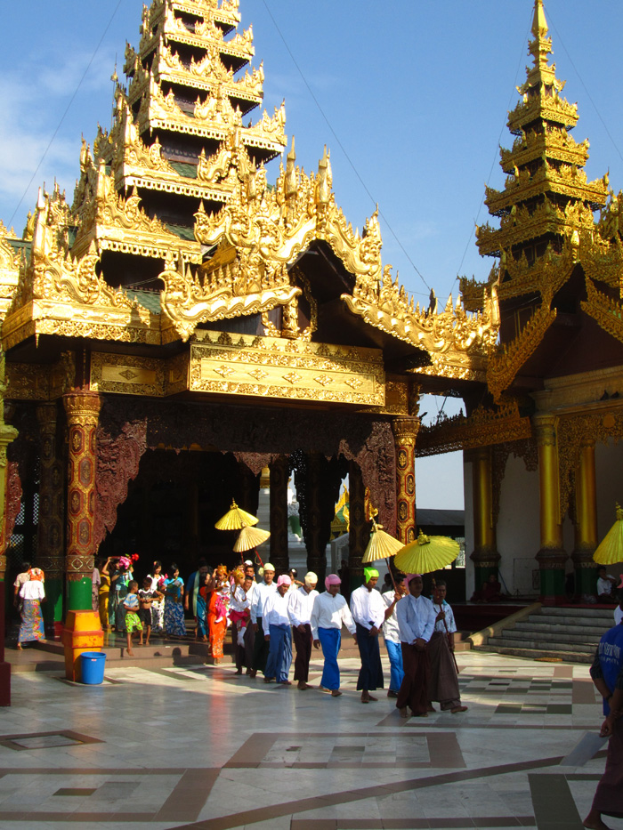 Ceremony at the Shwedagon Pagoda