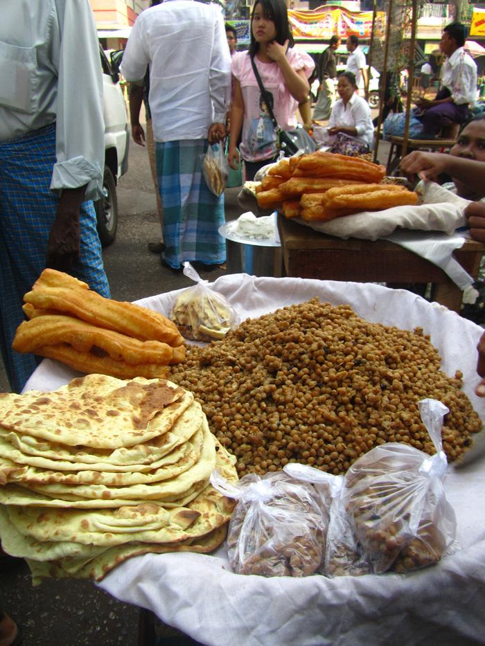 Burmese Peas and Naan