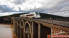 Regional serie 598 vuela sobre el Esla (Luis Cortés Zacarías) Tags: tren martin gil zamora ferrocarril renfe viaducto esla adif 598 ricobayo