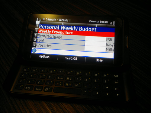 Nokia E7 Office Doc