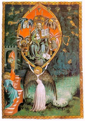 006- Visión del trono del Señor-Apocalipsis de Paris- hacia 1400- Bibliothèque Nationale-Paris
