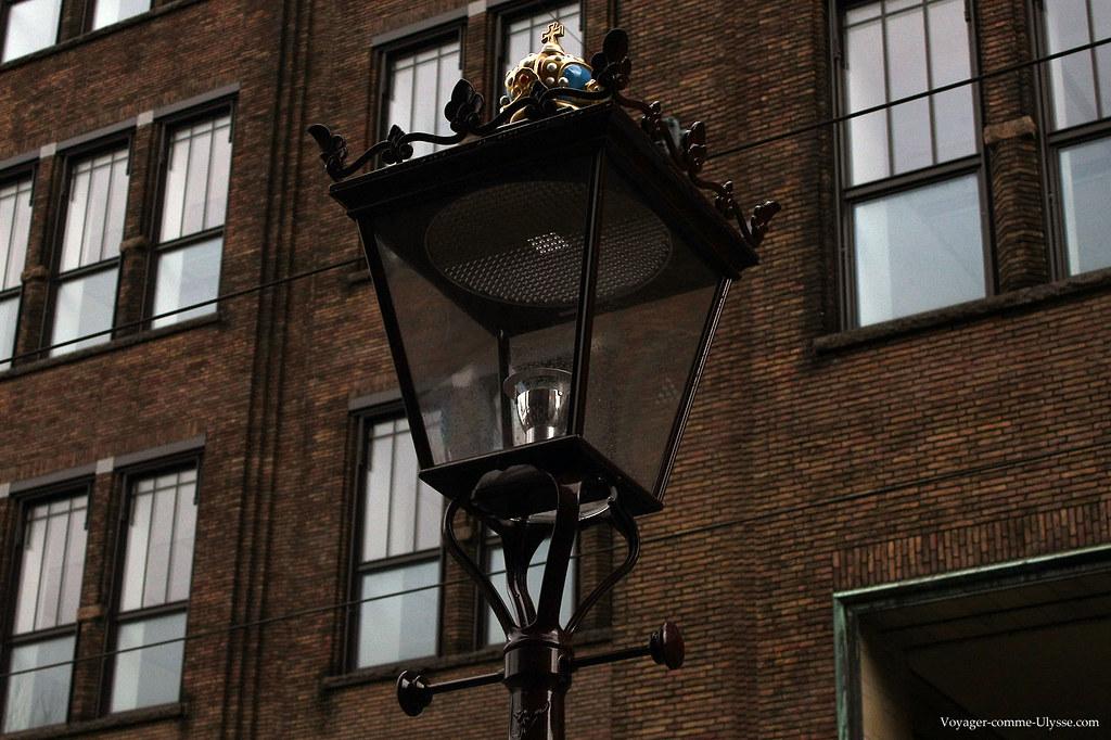 Lampadaire de la place Rembrandt