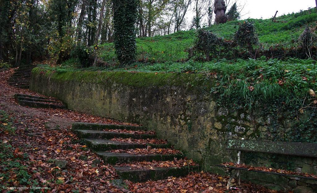 Petit bois en descendant du château