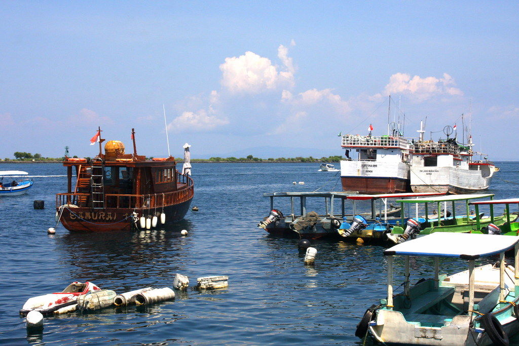 Boats and more boats at Tanjung Benoa, Nusa Dua, Bali