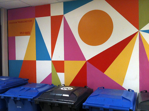 City Hall, Geometric mural