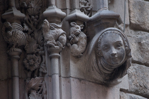 Ornamentation in Barri Gotic