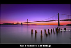 San Francisco Bay Bridge (davidyuweb) Tags: sanfrancisco california bridge usa color sunrise bay san francisco digitalcameraclub